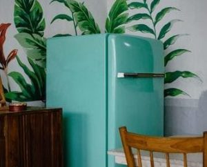Reto teal coloured fridge