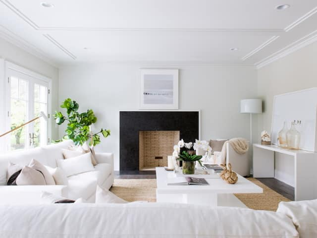 Beautiful white themed lounge with modern design in Melbourne