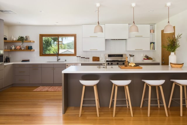 Open kitchen space in a Perth house