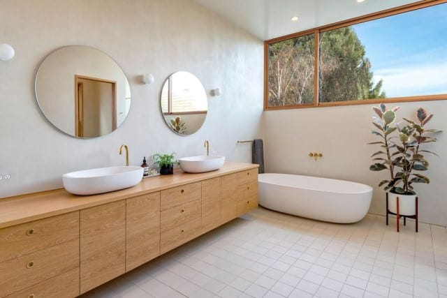 Modern bathroom from our cleaning customer's house in Perth