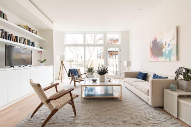 Modern Sydney living room after a spring clean